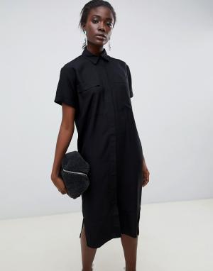 Платье-рубашка миди в стиле casual от ASOS DESIGN