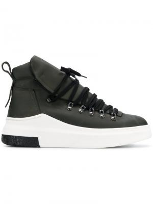 Lace-up sneakers Cinzia Araia. Цвет: зеленый