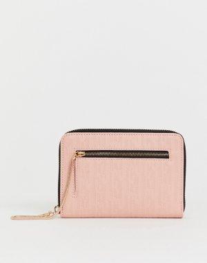 Розовый кошелек на молнии с тиснением Juicy alexis Couture