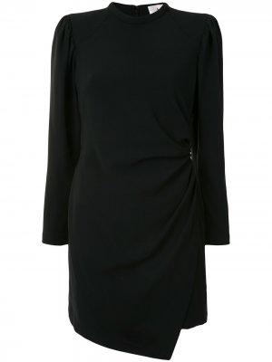 Платье мини Jane с запахом A.L.C.. Цвет: черный