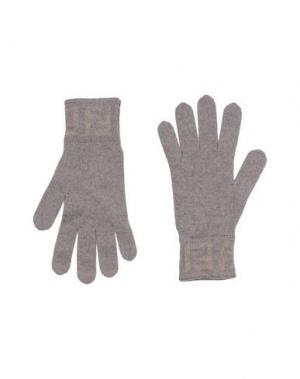 Перчатки FENDI. Цвет: хаки