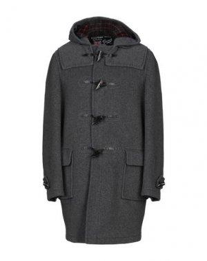 Пальто GLOVERALL. Цвет: свинцово-серый