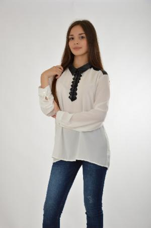 Блузка Carla Giannini. Цвет: белый
