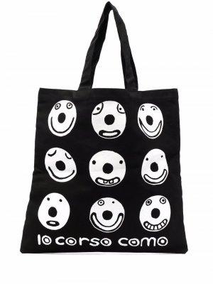 Сумка-тоут Smile 10 CORSO COMO. Цвет: черный