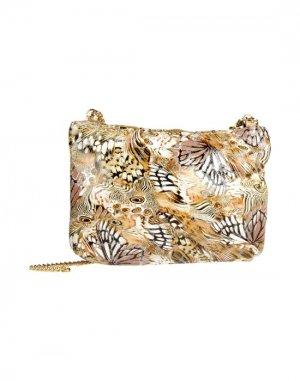 Средняя кожаная сумка BRUNO AMARANTI. Цвет: бежевый