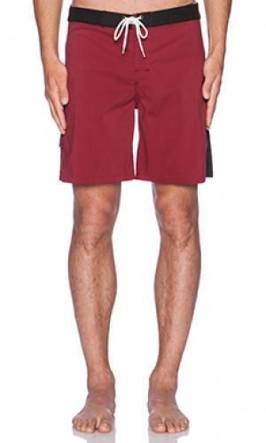 Плавательные шорты malibu Lightning Bolt. Цвет: красный