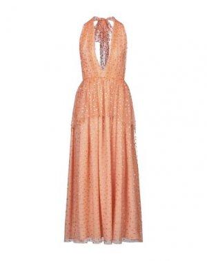 Длинное платье NOLITA. Цвет: лососево-розовый