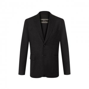 Шерстяной пиджак Brioni. Цвет: серый