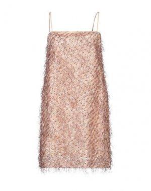 Короткое платье ATOS LOMBARDINI. Цвет: абрикосовый