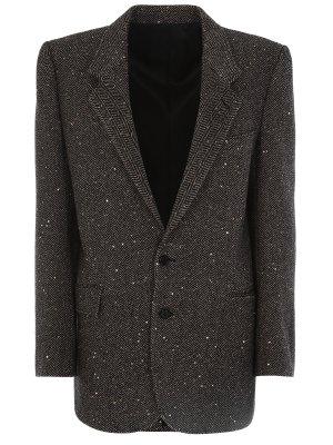 Пиджак классический шерстяной CELINE. Цвет: бежевый