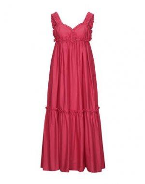 Длинное платье KI6? WHO ARE YOU?. Цвет: коралловый