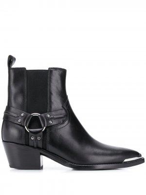 Ковбойские ботинки Dusty Combo Ash. Цвет: черный