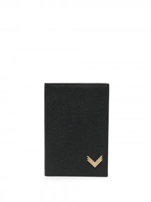 Обложка на паспорт из коллаборации с Velante Manokhi. Цвет: черный