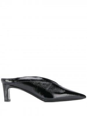Лакированные мюли-слипоны McQ Alexander McQueen. Цвет: черный