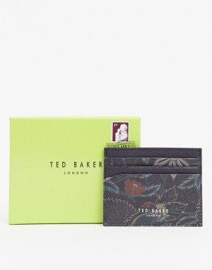 Темно-синий кошелек для карт с технологией RFID и принтом Ted Baker