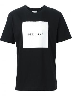 Футболки и жилеты Soulland. Цвет: чёрный