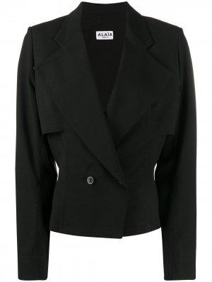Приталенный двубортный пиджак 1990-х годов Alaïa Pre-Owned. Цвет: черный
