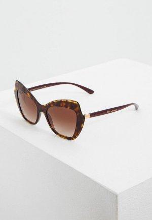 Очки солнцезащитные Dolce&Gabbana DG4361 502/13. Цвет: коричневый