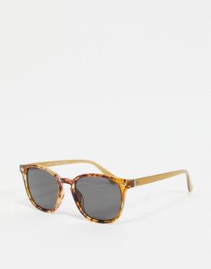 Квадратные солнцезащитные очки в черепаховой оправе -Коричневый цвет River Island
