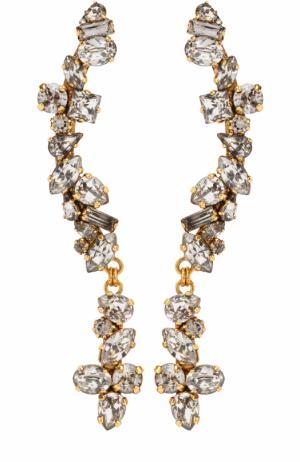 Серьги с кристаллами Swarovski Erickson Beamon. Цвет: прозрачный