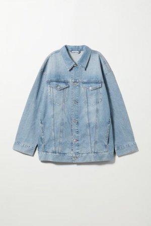 Джинсовая куртка Giga Weekday. Цвет: синий