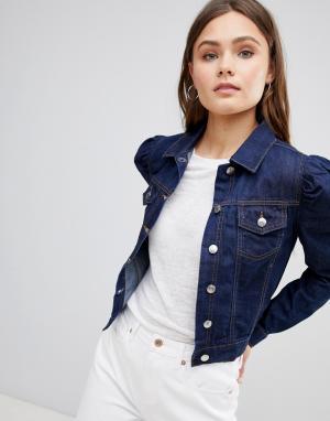 Джинсовая куртка Parisian. Цвет: синий
