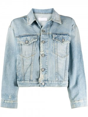 Укороченная джинсовая куртка Harvey Boyish Jeans. Цвет: синий