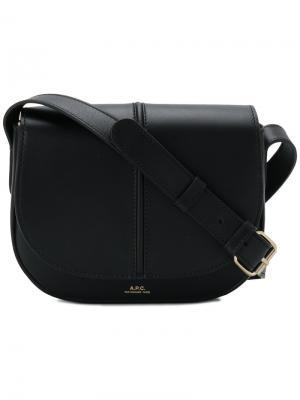 Маленькая сумка-мессенджер A.P.C.. Цвет: черный