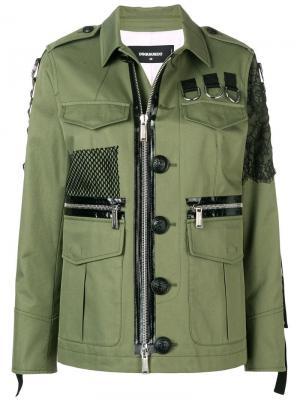 Куртка-рубашка в стиле милитари Dsquared2
