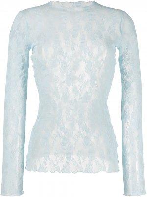 Пуловер Katharina с кружевом Wolford. Цвет: синий