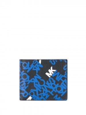 Бумажник Brooklyn с логотипом Michael Kors. Цвет: черный