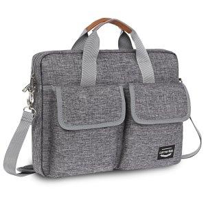 Мужской портфель с текстовой заплатой SHEIN. Цвет: серый