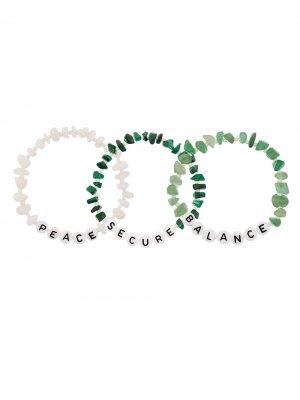 TBALANCE SECURE BALANCE PEACE MALACHITE Crystals. Цвет: зеленый