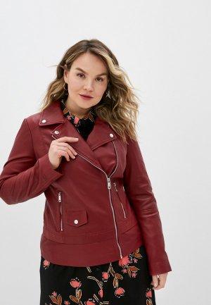 Куртка кожаная Снежная Королева. Цвет: красный