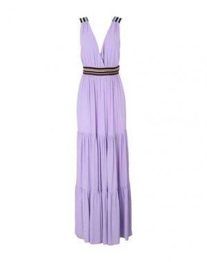 Длинное платье SUOLI. Цвет: сиреневый