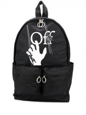 Logo-print backpack Off-White. Цвет: черный