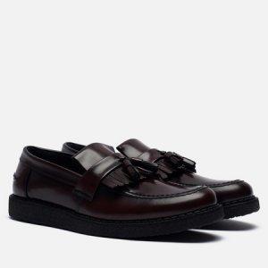 Мужские ботинки лоферы x George Cox Tassel Fred Perry. Цвет: бордовый