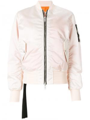 Базовая куртка-бомбер Unravel Project. Цвет: розовый