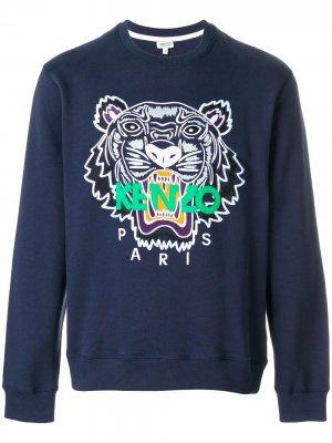 Толстовка Tiger Kenzo. Цвет: синий