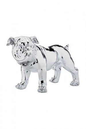 Статуэтка Bulldog 42 см Kare. Цвет: серебряный