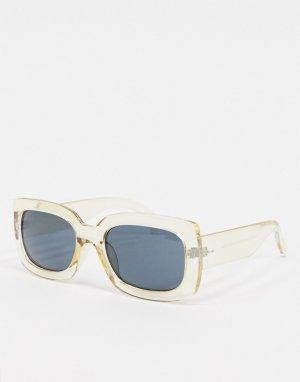 Квадратные солнцезащитные очки в оправе цвета шампанского -Бежевый AJ Morgan