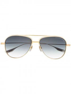 Солнцезащитные очки-авиаторы Subsystem Dita Eyewear. Цвет: серебристый