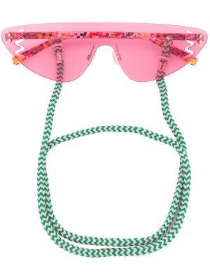 Солнцезащитные очки без оправы M Missoni. Цвет: розовый