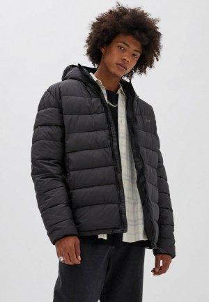 Куртка утепленная Pull&Bear. Цвет: черный