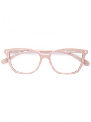 Очки в квадратной оправе Stella Mccartney Eyewear. Цвет: розовый и фиолетовый
