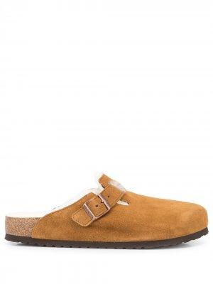 Boston fur-lined sandals Birkenstock. Цвет: mink
