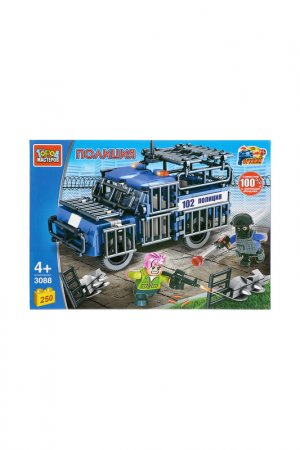 Полицейская Машина с фигурками Город мастеров. Цвет: синий