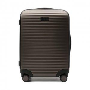 Дорожный чемодан Ermenegildo Zegna. Цвет: коричневый