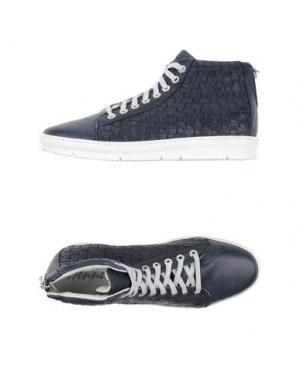 Высокие кеды и кроссовки HENNE. Цвет: темно-синий