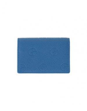 Чехол для документов GIORGIO ARMANI. Цвет: синий